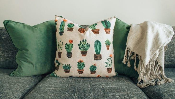 poduszka w sukulenty